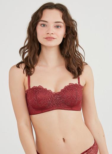 Penti Kadın Kırmızı Lotus Satin Sütyen PLB6XV8Q21IY Kırmızı